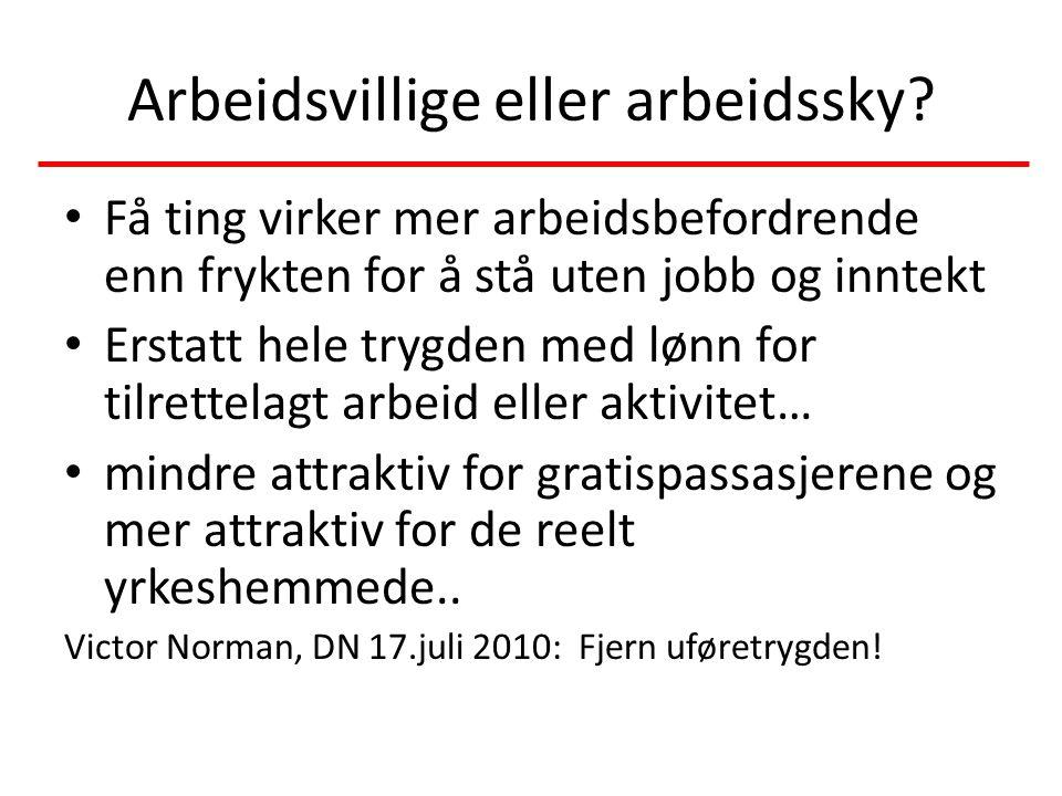 Arbeidsvillige eller arbeidssky