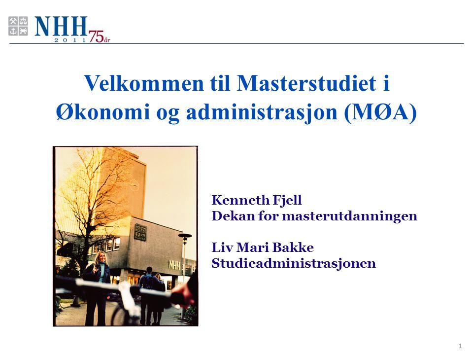 Velkommen til Masterstudiet i Økonomi og administrasjon (MØA)