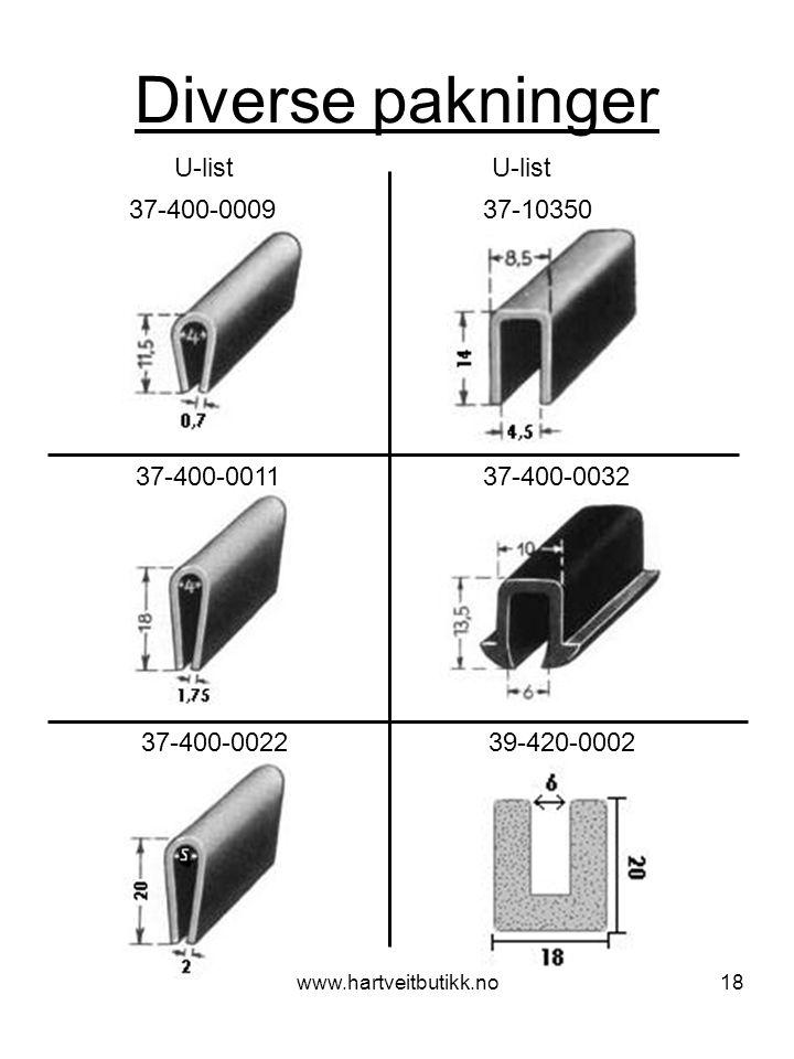Diverse pakninger U-list U-list 37-400-0009 37-10350