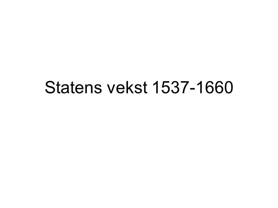 Statens vekst 1537-1660