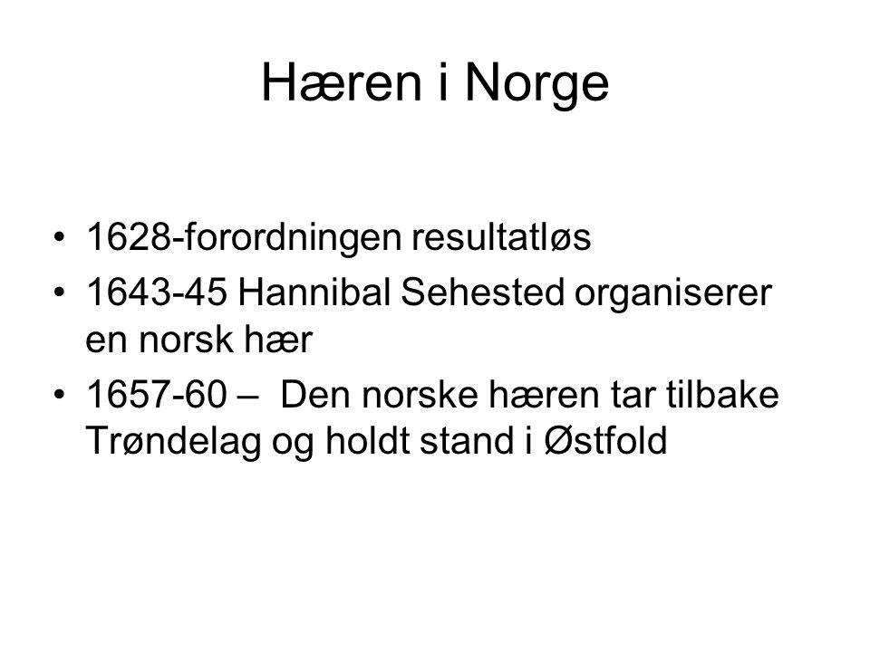 Hæren i Norge 1628-forordningen resultatløs