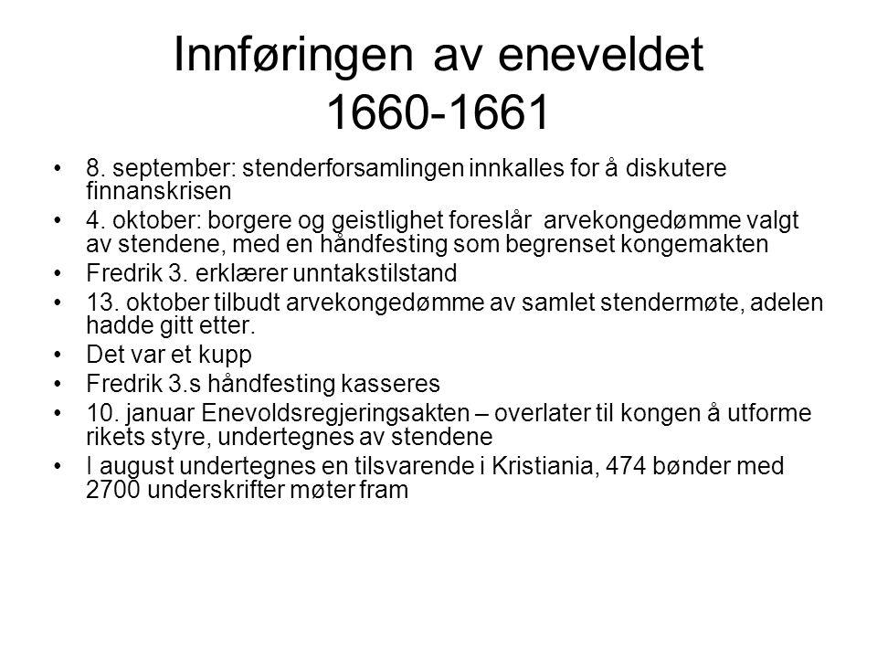 Innføringen av eneveldet 1660-1661