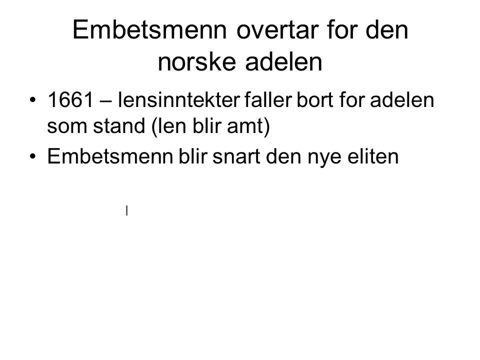 Embetsmenn overtar for den norske adelen