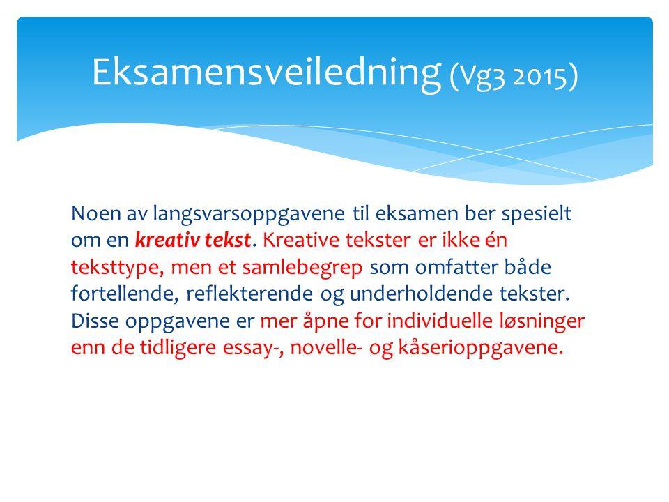 Eksamensveiledning (Vg3 2015)