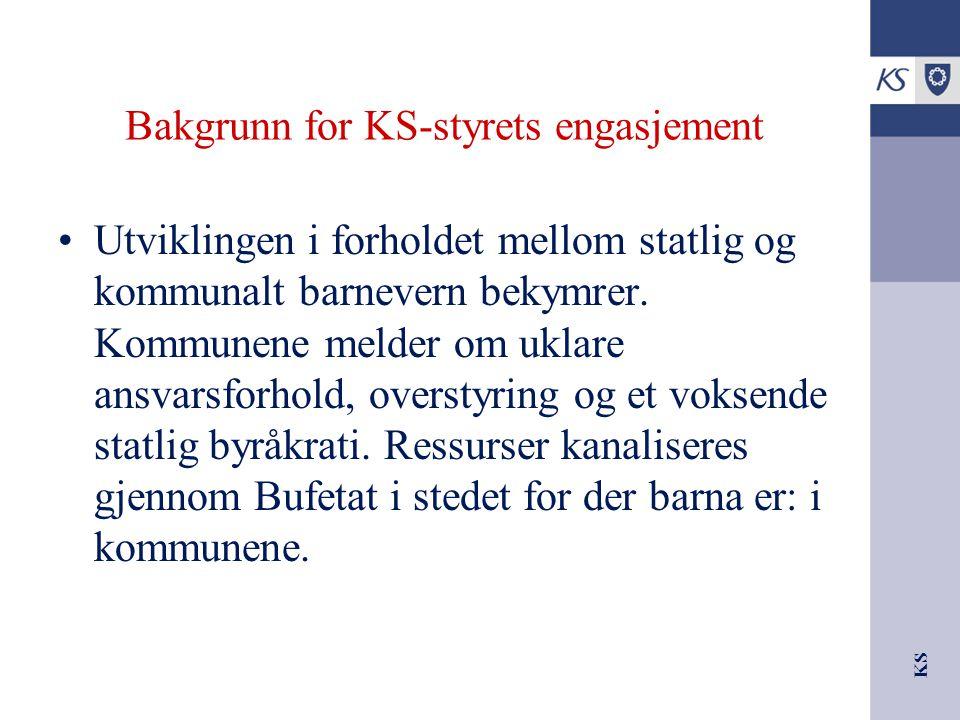 Bakgrunn for KS-styrets engasjement