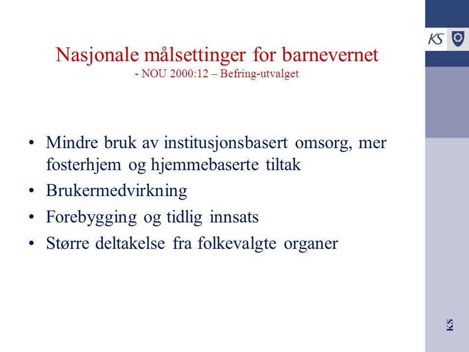 Nasjonale målsettinger for barnevernet - NOU 2000:12 – Befring-utvalget