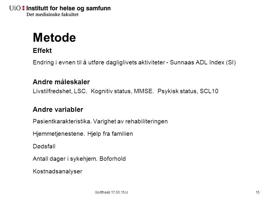 Materiale og Metode Design