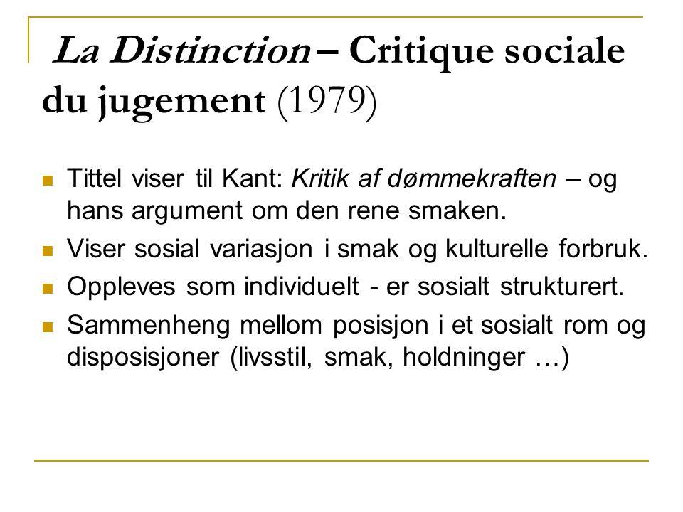 La Distinction – Critique sociale du jugement (1979)