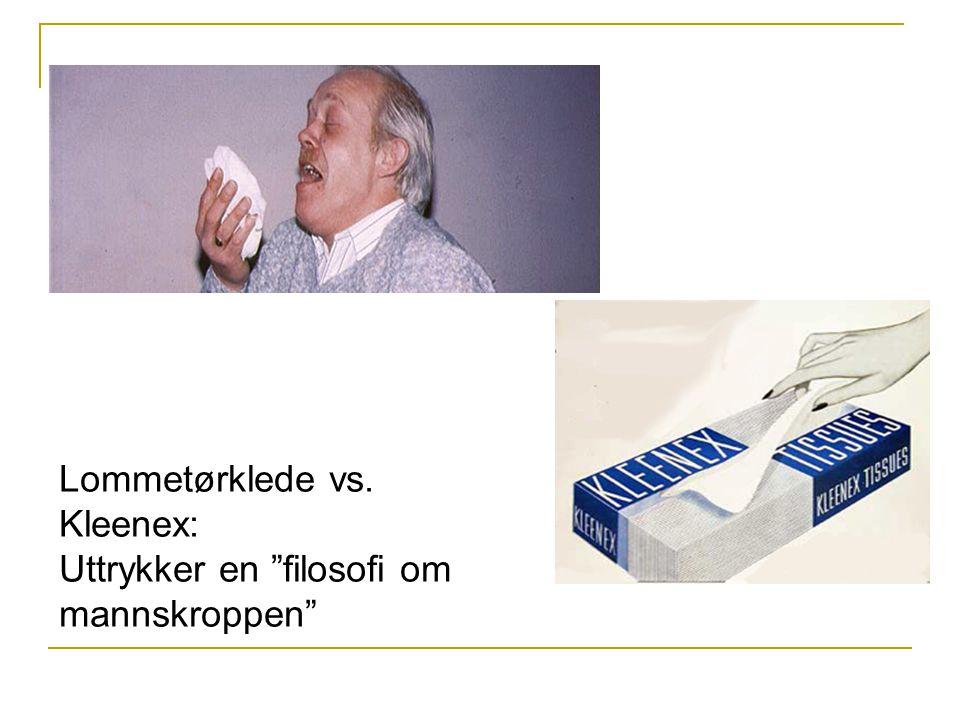 Lommetørklede vs. Kleenex: