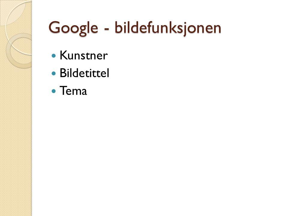 Google - bildefunksjonen