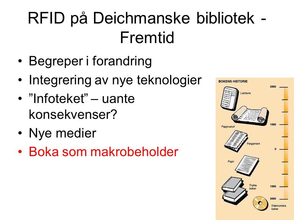 RFID på Deichmanske bibliotek - Fremtid