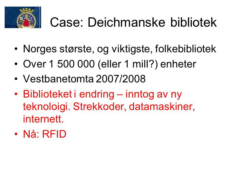 Case: Deichmanske bibliotek