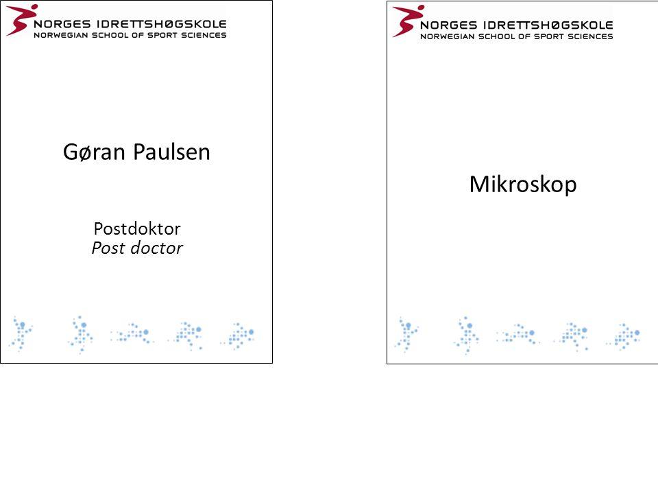 Gøran Paulsen Mikroskop Postdoktor Post doctor