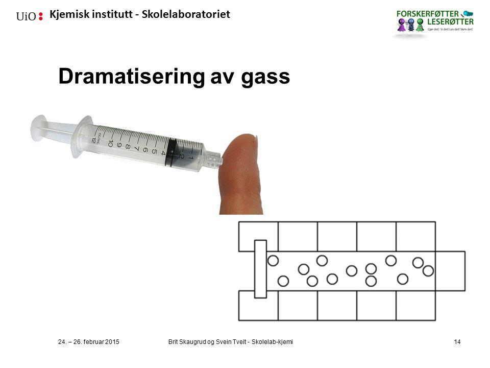 Dramatisering av gass 24. – 26. februar 2015