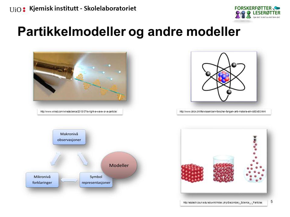 Partikkelmodeller og andre modeller