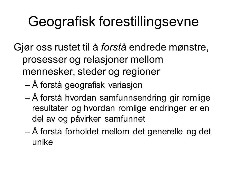 Geografisk forestillingsevne