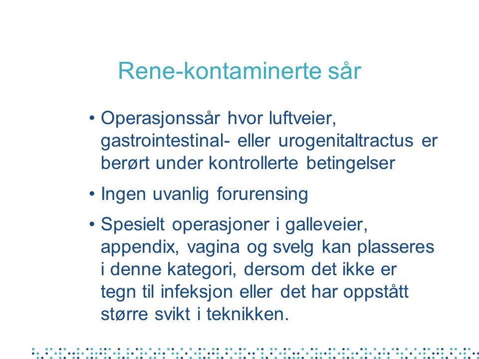 Rene-kontaminerte sår