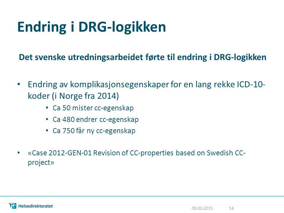 Endring i DRG-logikken