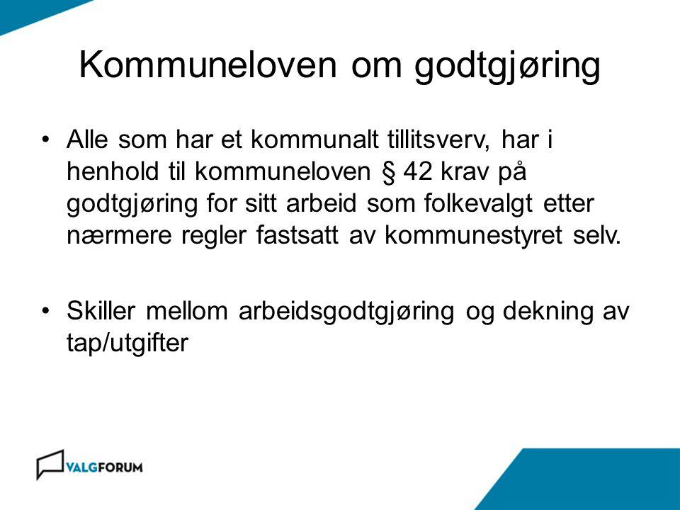 Kommuneloven om godtgjøring