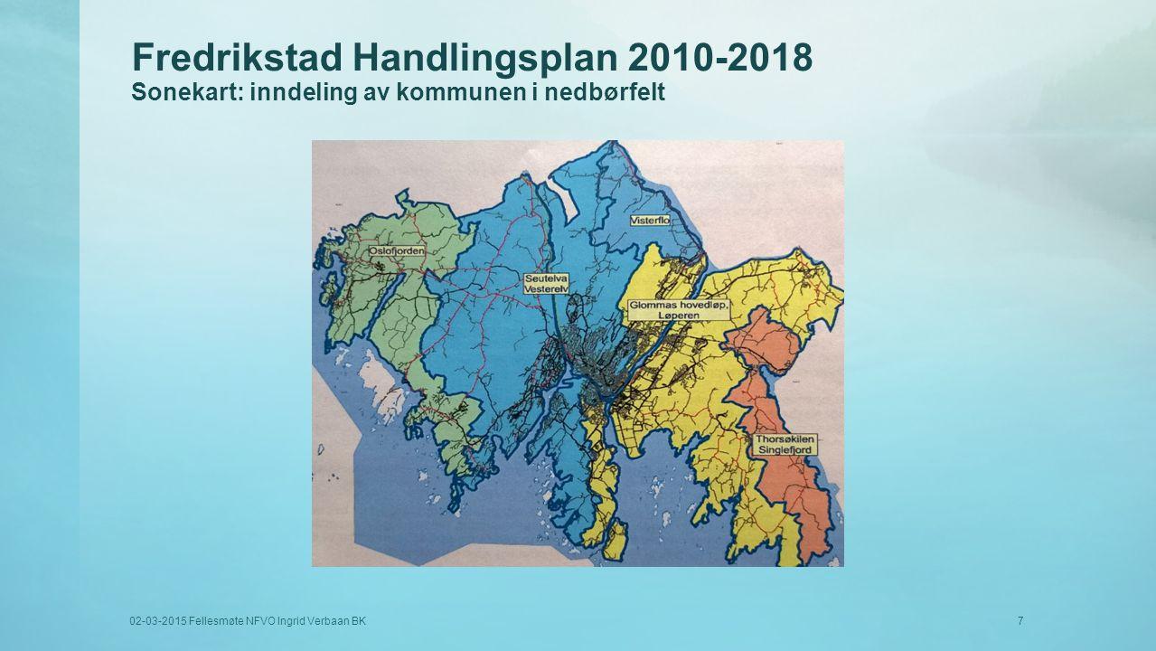 Fredrikstad Handlingsplan 2010-2018 Sonekart: inndeling av kommunen i nedbørfelt