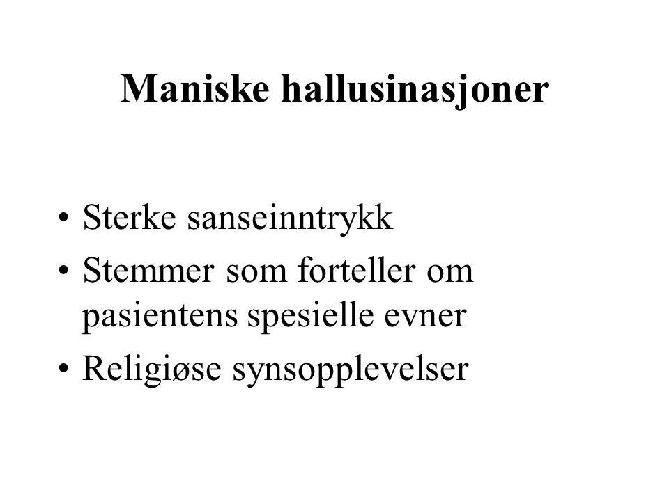 Maniske hallusinasjoner