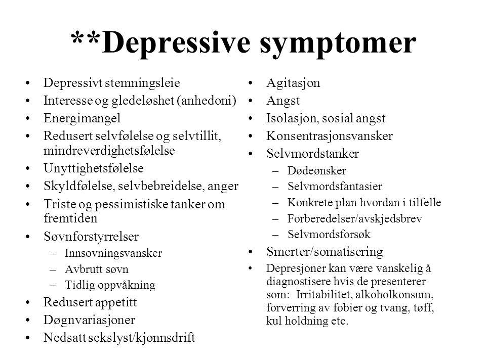 **Depressive symptomer