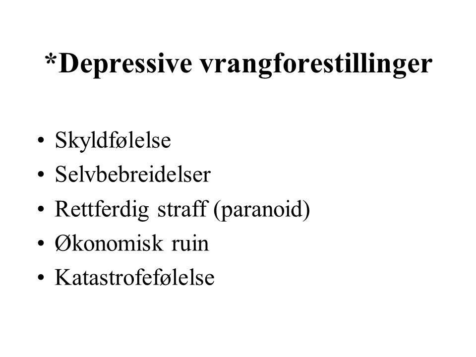 *Depressive vrangforestillinger