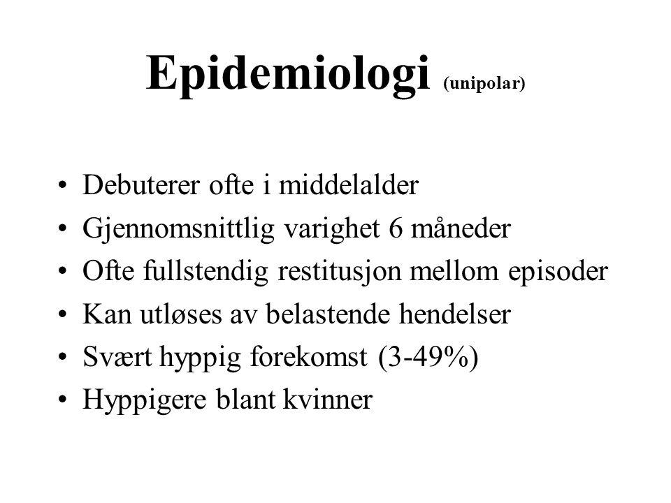 Epidemiologi (unipolar)