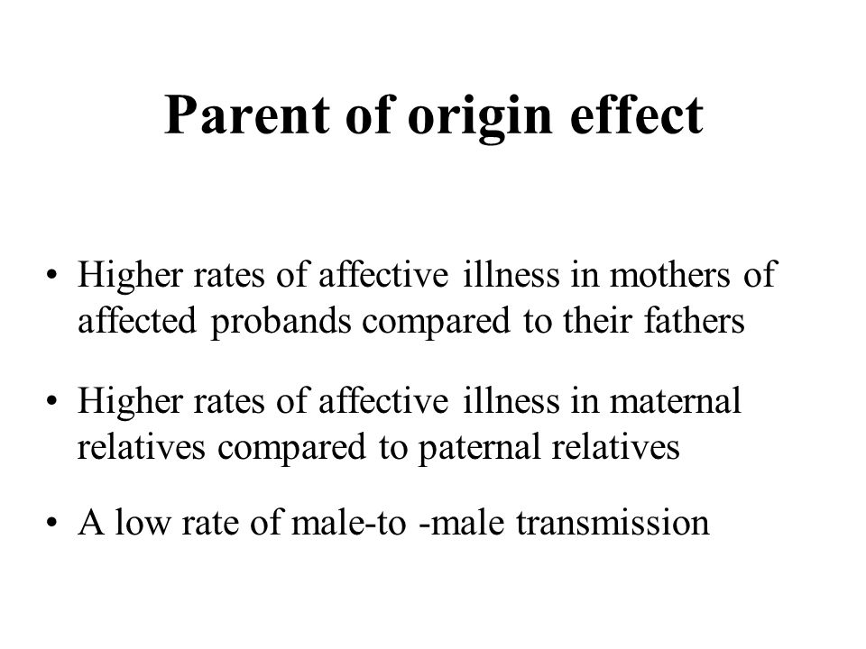 Parent of origin effect