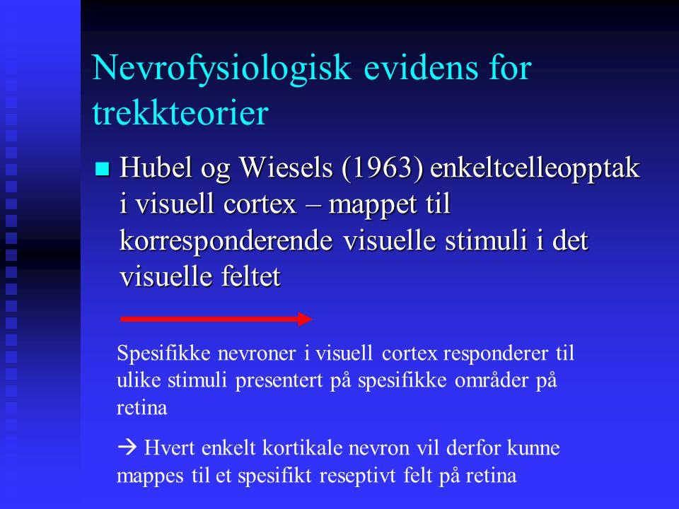 Nevrofysiologisk evidens for trekkteorier