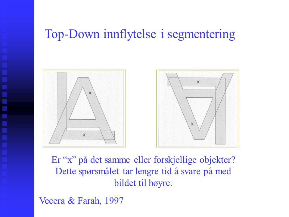 Top-Down innflytelse i segmentering