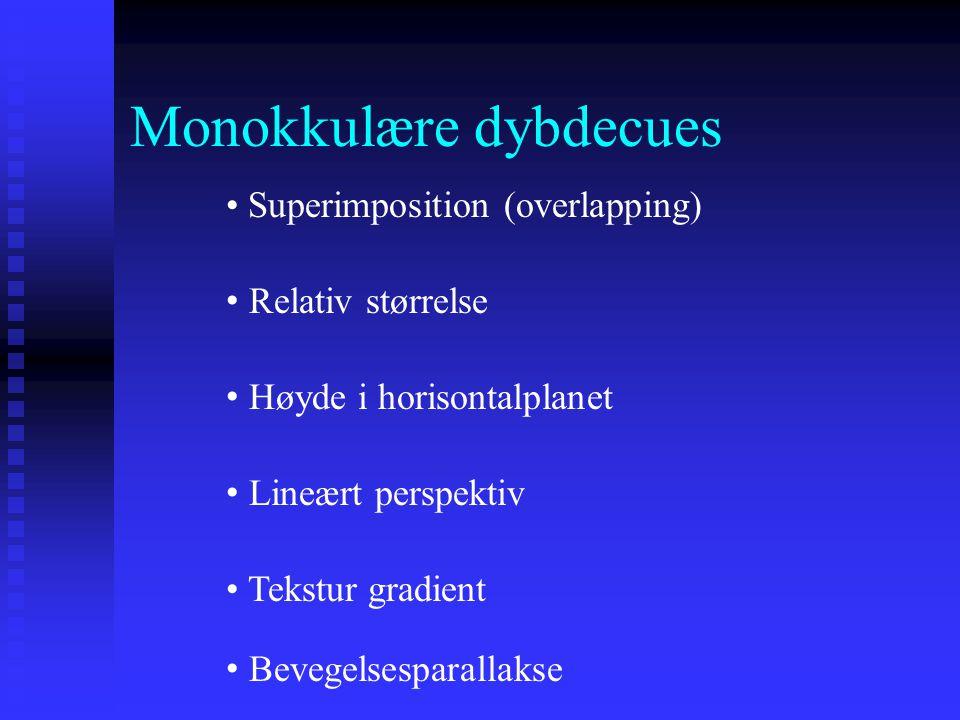 Monokkulære dybdecues