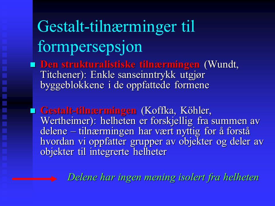 Gestalt-tilnærminger til formpersepsjon