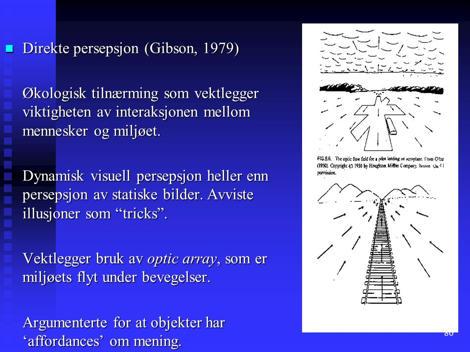 Direkte persepsjon (Gibson, 1979)