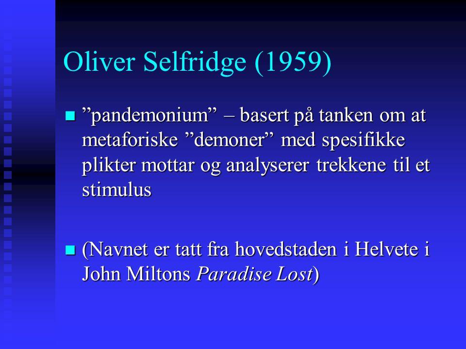 Oliver Selfridge (1959)