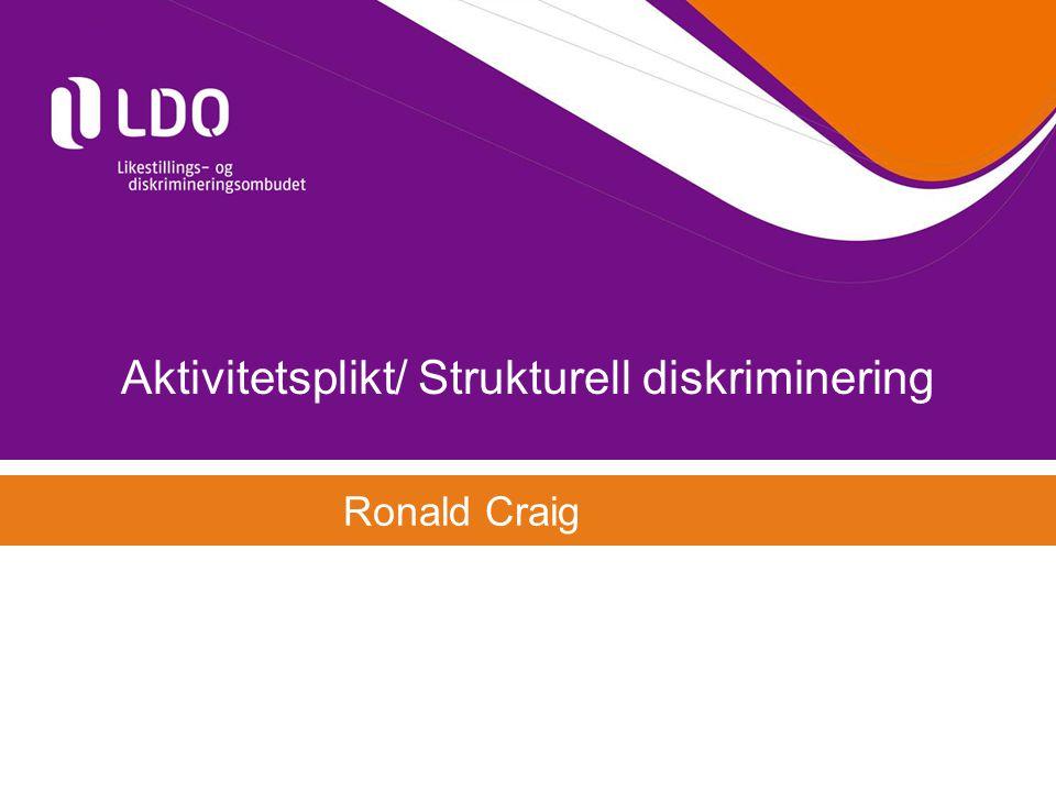 Aktivitetsplikt/ Strukturell diskriminering
