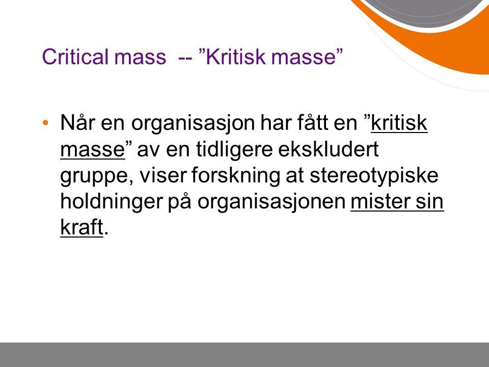 Critical mass -- Kritisk masse