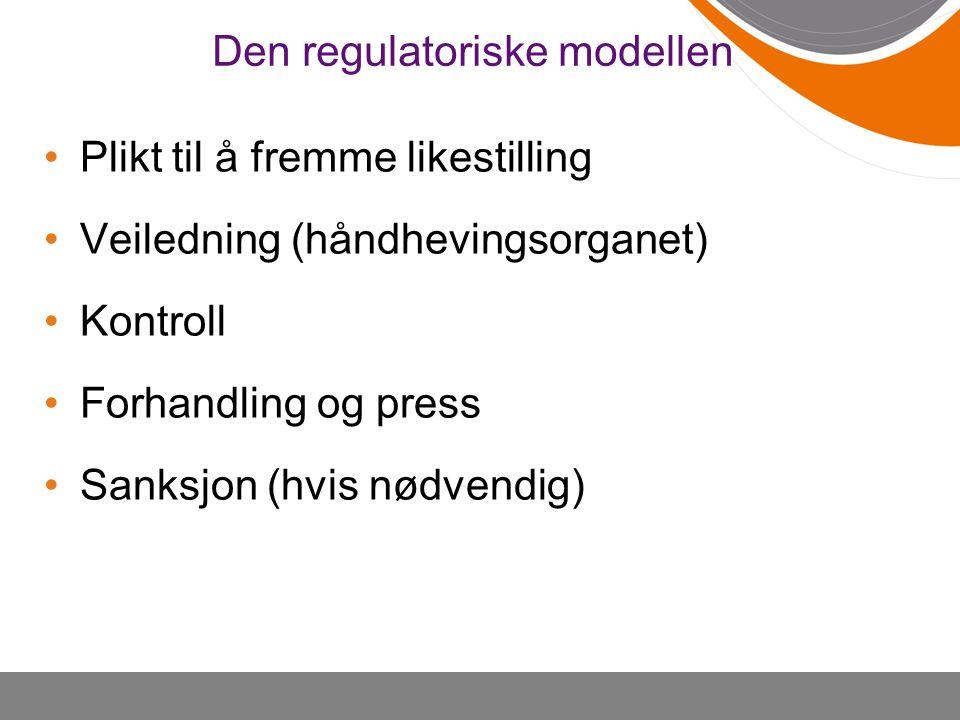 Den regulatoriske modellen