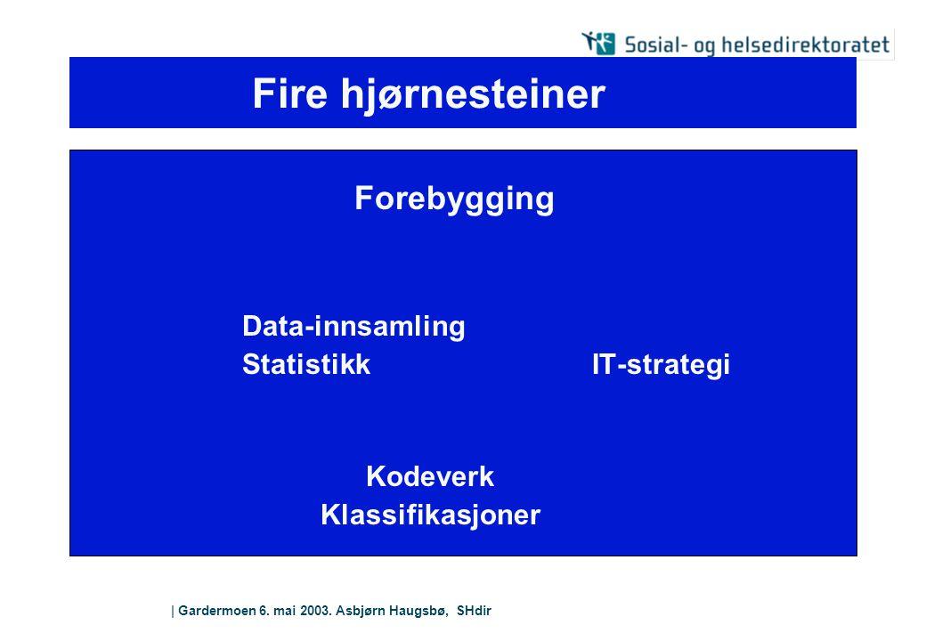 Fire hjørnesteiner Data-innsamling Statistikk IT-strategi Kodeverk