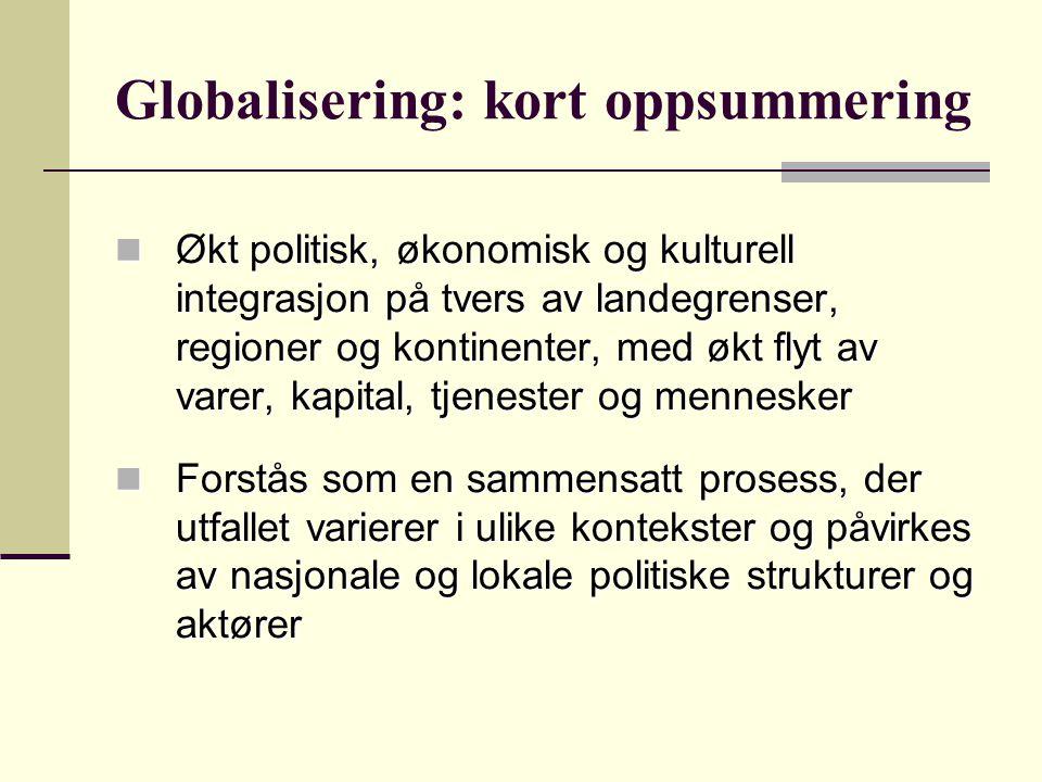 Globalisering: kort oppsummering