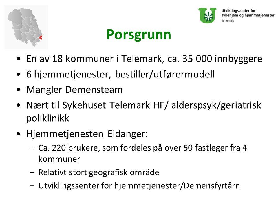 Porsgrunn En av 18 kommuner i Telemark, ca. 35 000 innbyggere
