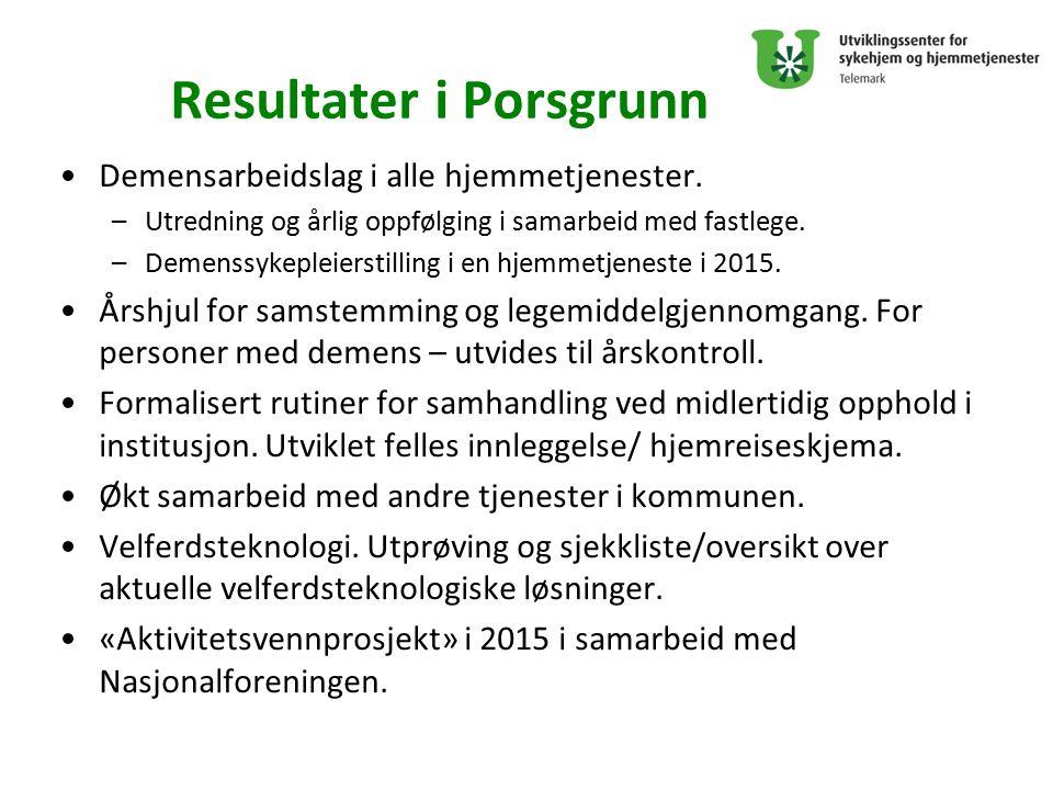 Resultater i Porsgrunn