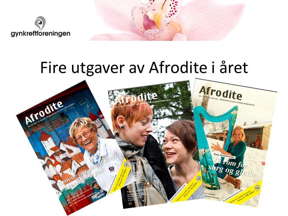 Fire utgaver av Afrodite i året