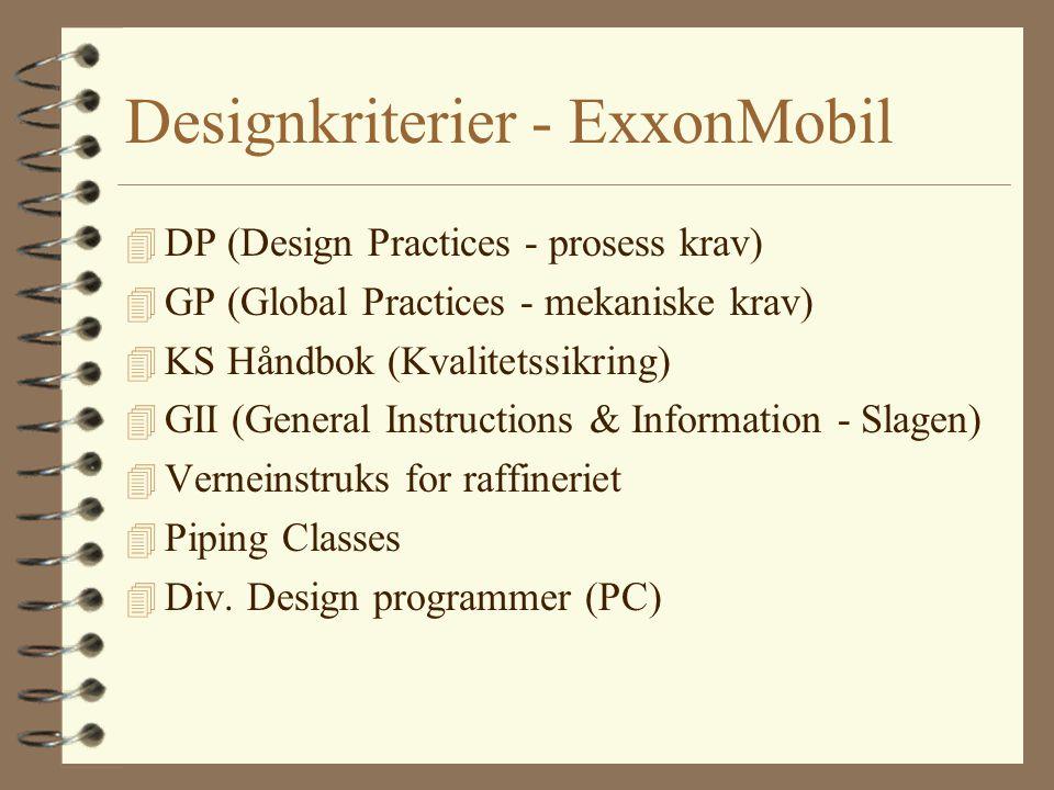 Designkriterier - ExxonMobil