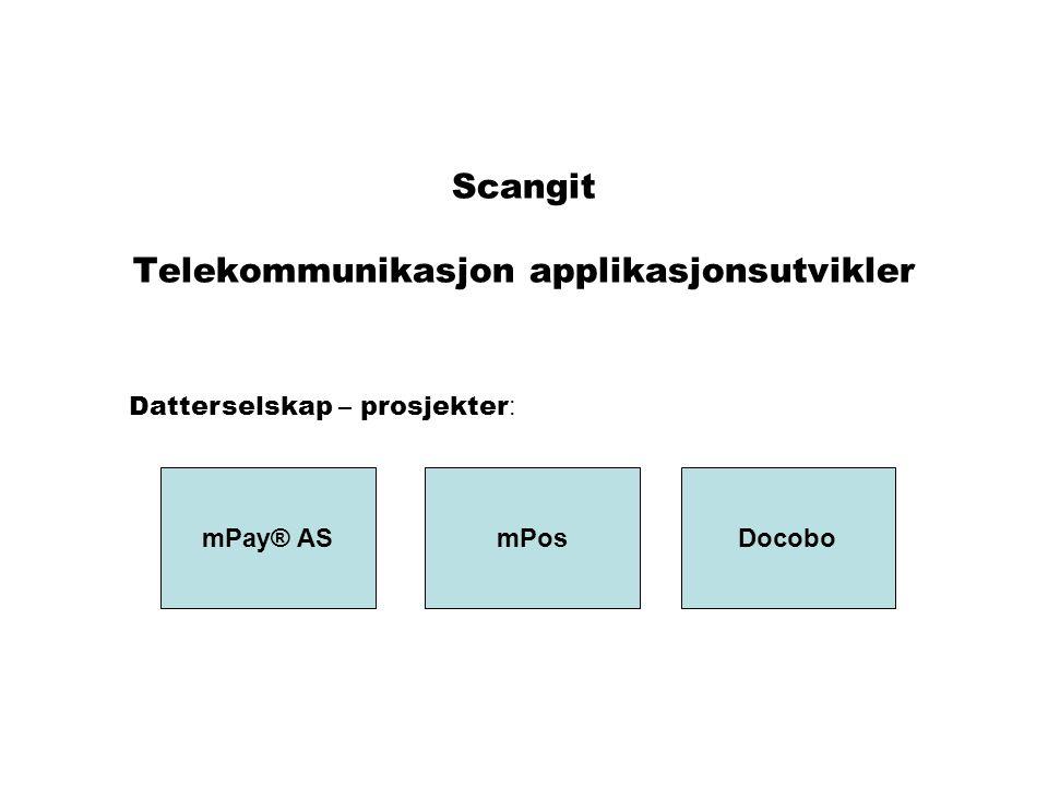 Scangit Telekommunikasjon applikasjonsutvikler