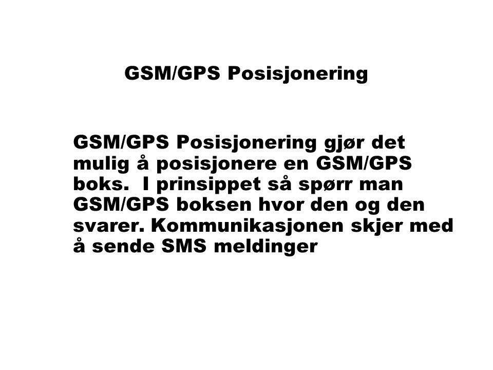 GSM/GPS Posisjonering