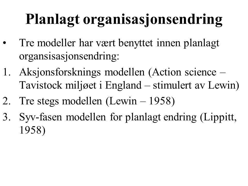 Planlagt organisasjonsendring