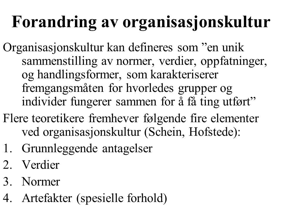 Forandring av organisasjonskultur