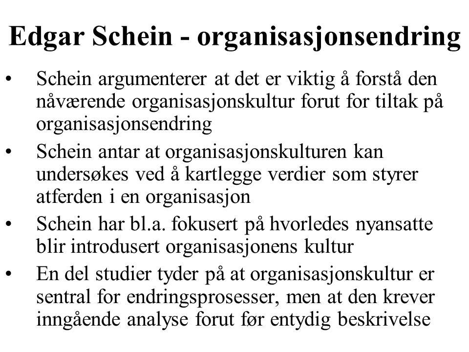 Edgar Schein - organisasjonsendring