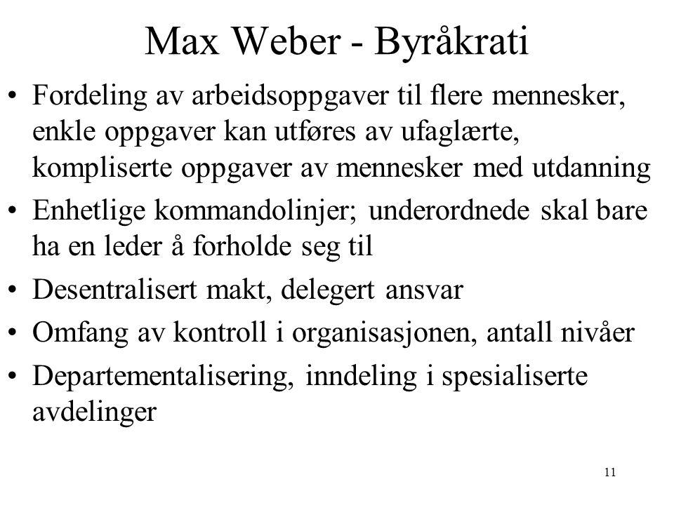Max Weber - Byråkrati